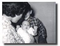 Ellen Shuman, 1 month old